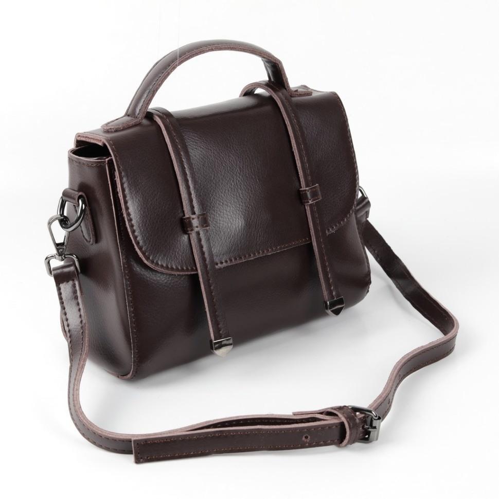 43dbcf346fa0 Купить оптом сумку женскую кожаную М8003-1 Браун10