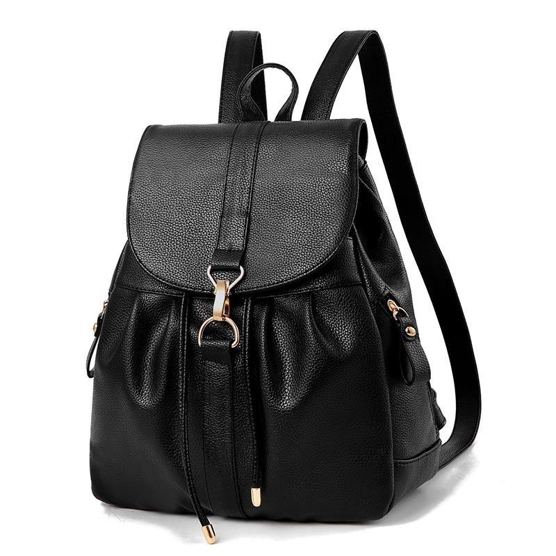 23ca933c6d50 Купить оптом женский рюкзак 0958 Black