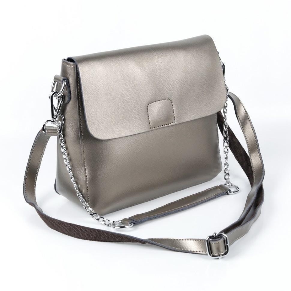 228387c14e69 Купить оптом женскую кожаную сумку 8835 Сильвер Грей