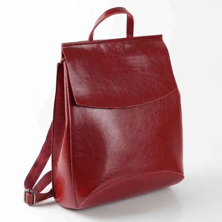 501dac97c5b2 Купить оптом женский кожаный рюкзак W048 Красный