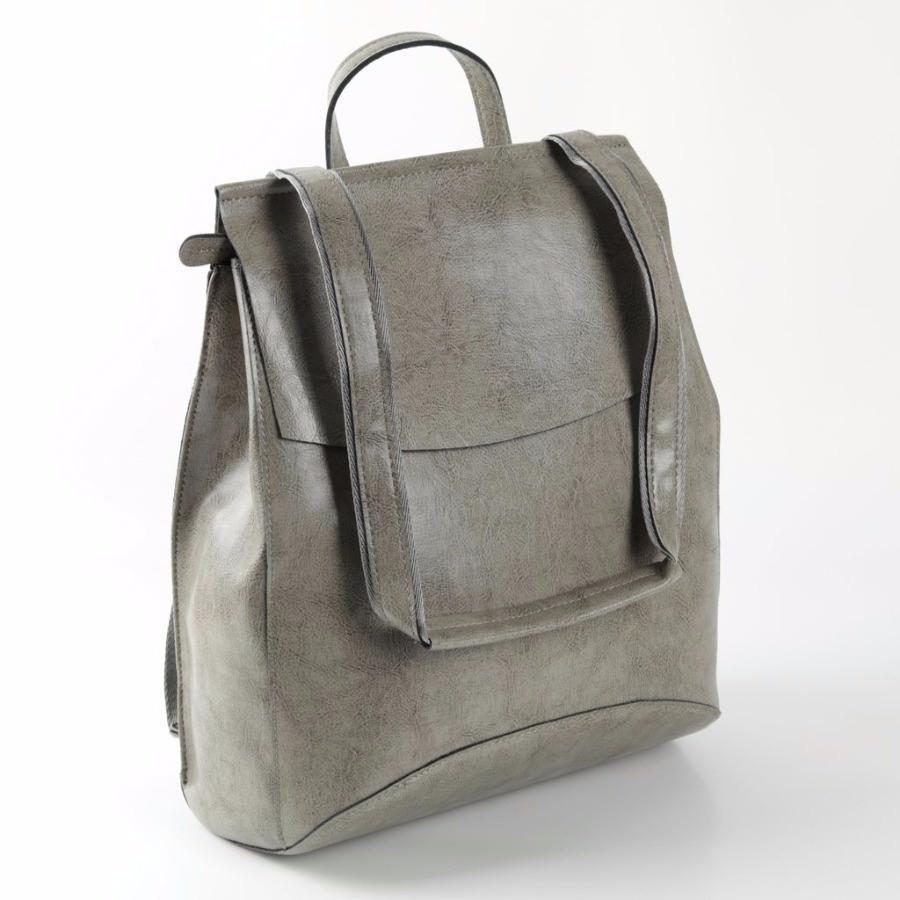 5d9237086ca5 Купить оптом женский кожаный рюкзак W048 Серый