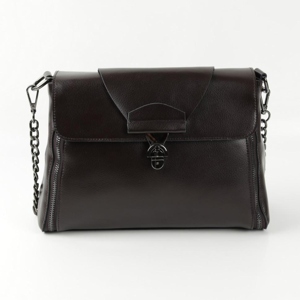 9e05eefd802c Купить оптом женскую кожаную сумку 1803 Кофе