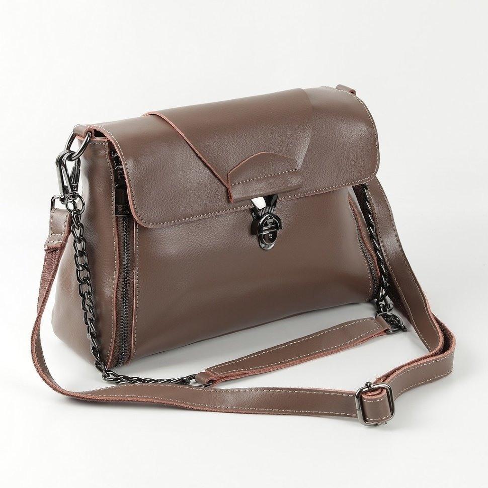 101e30ee69d7 Купить оптом женскую кожаную сумку 1803 Хаки