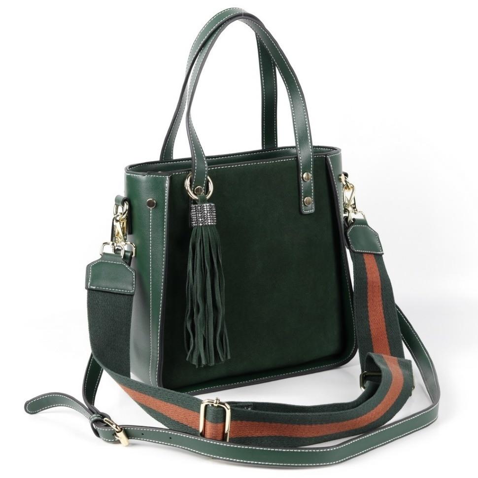 36fa0337155c Купить оптом женскую кожаную сумку 2259 Грин