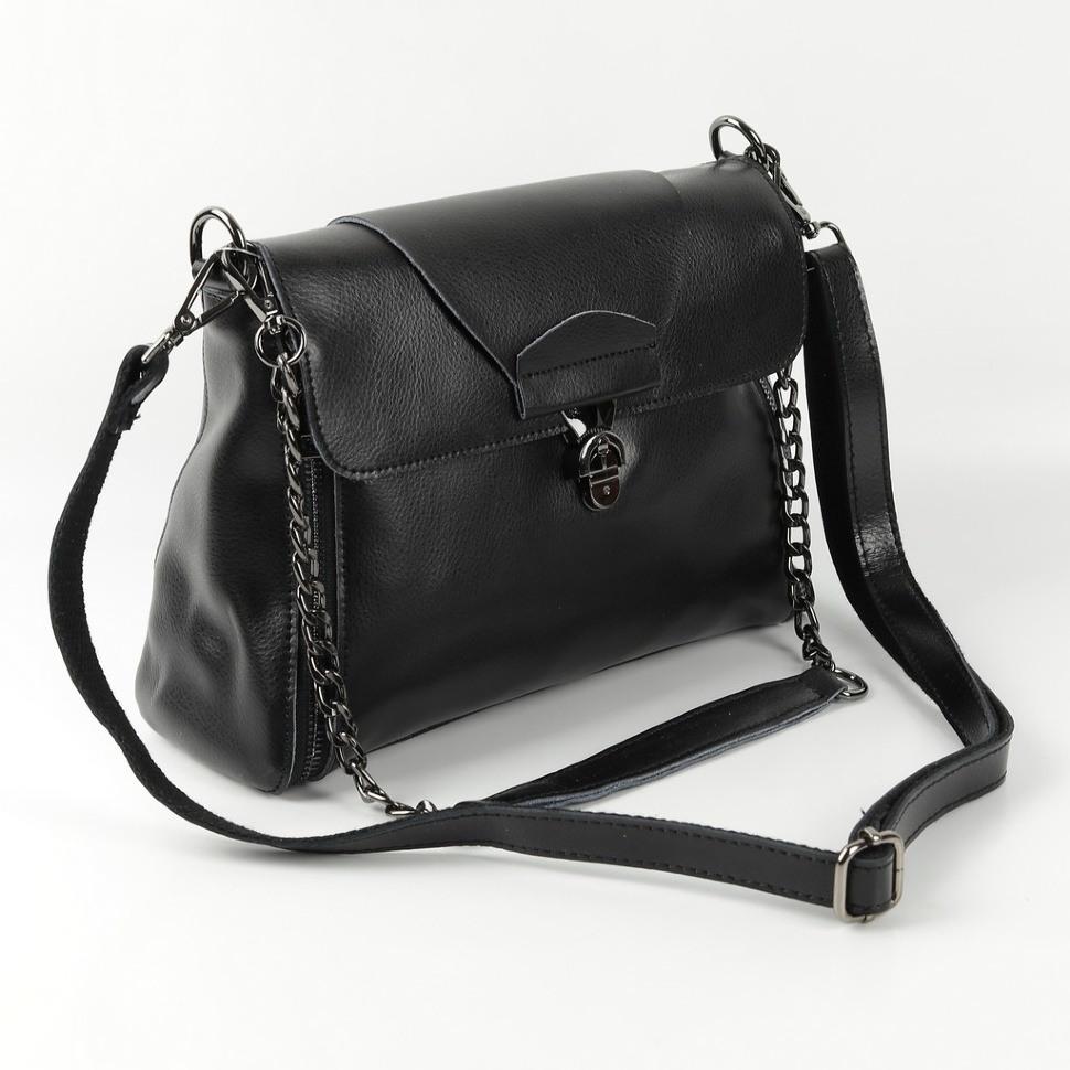 5c5822d12851 Купить оптом женскую кожаную сумку 1803 Блек