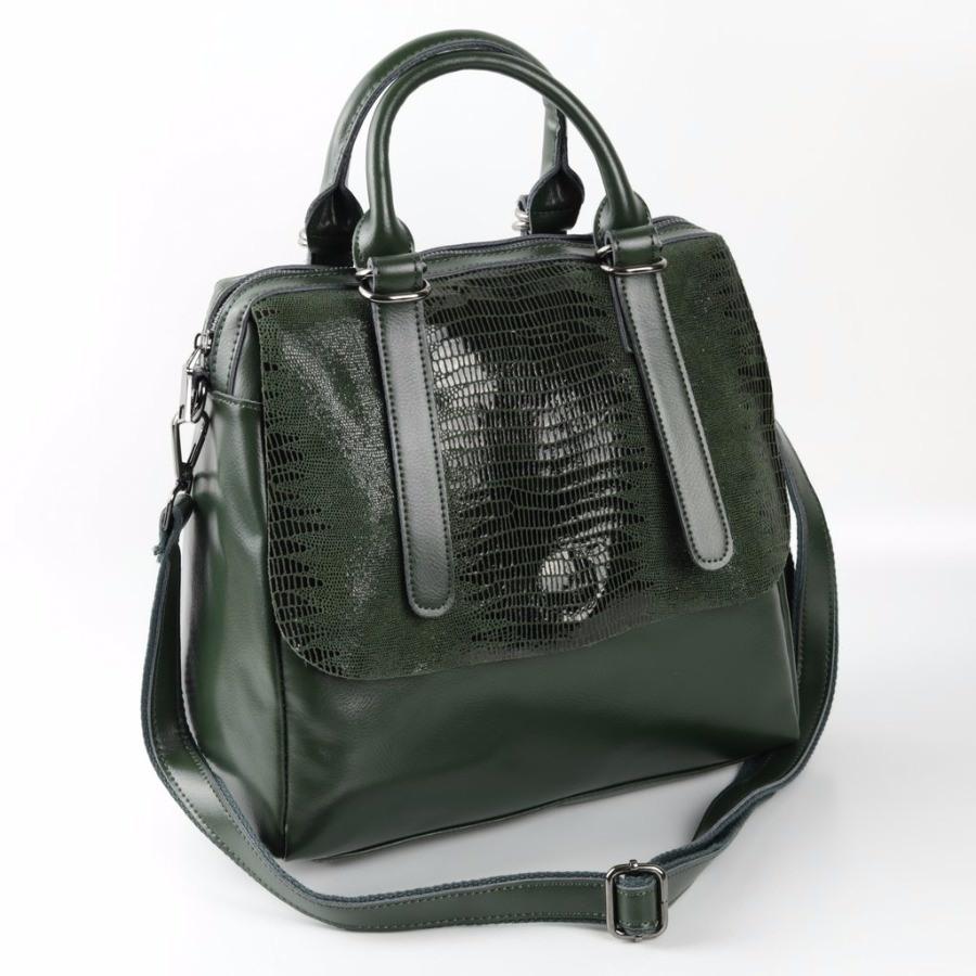 47eed4434137 Купить оптом женскую кожаную сумку 1727 Лазер Зеленый