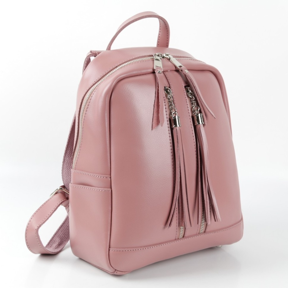 7a9d93a7160a Купить оптом женский кожаный рюкзак 817 Пинк