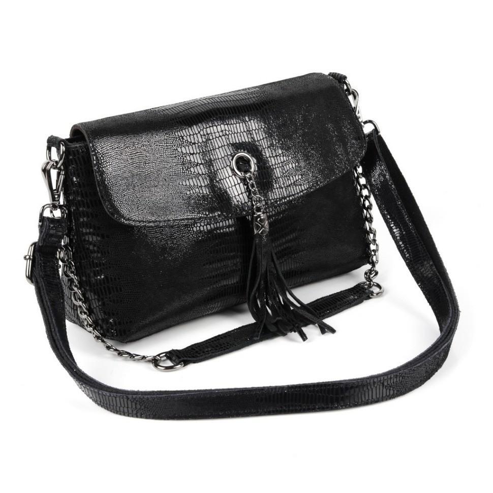 465934ff9fce Купить оптом женскую кожаную сумку 1814-А Блек