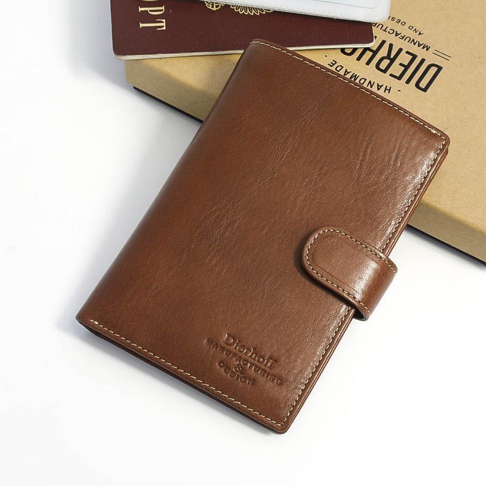 1a656db08085 Мужское кожаное портмоне для документов и денег Dierhoff Д 8109-047/2