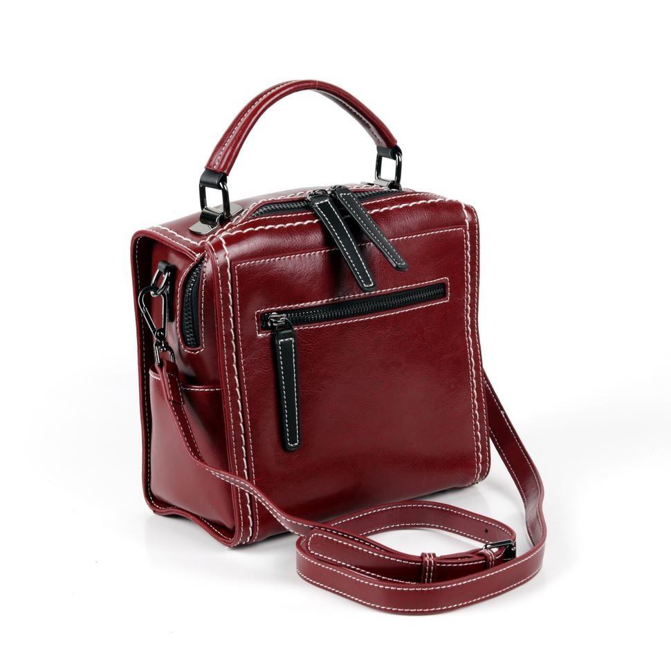 9f9f2cdf34b0 Купить оптом женскую кожаную сумку 18808 Бордо